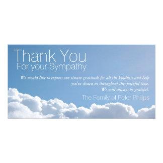 Friedlicher Himmel 2 - Beileid danken Ihnen Bilderkarten