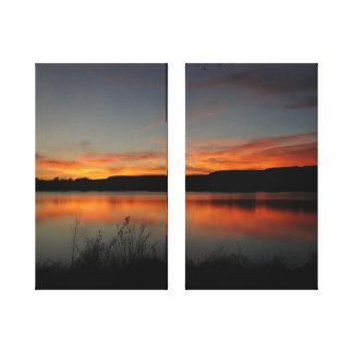 Friedlicher Sunset See-Scott-Staats-Park Leinwanddruck