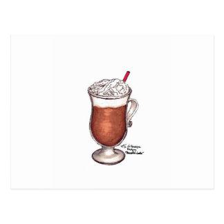 Friedliches Latte Postkarte