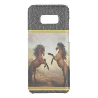 Friesische Entwurfs-Pferde in einem felsiger Get Uncommon Samsung Galaxy S8 Plus Hülle
