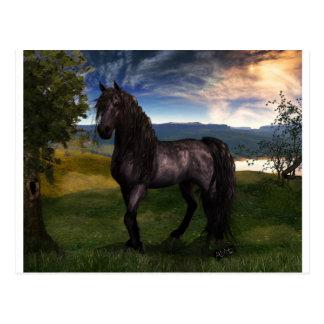 Friesische Pferdegewohnheits-Kunst Postkarte