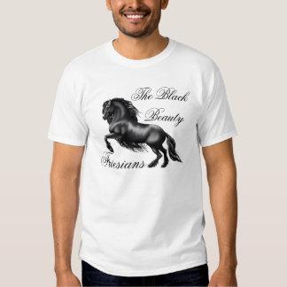 Friesische Rinder, gotische Schrift T-shirt