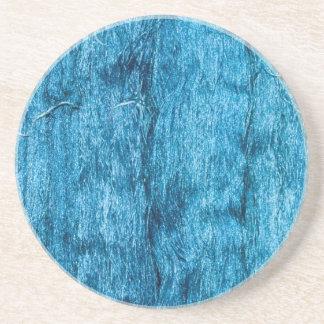 Frisch gefärbte blaue handgemachte thailändische sandstein untersetzer