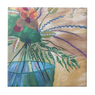 Frische Blumen Keramikfliese
