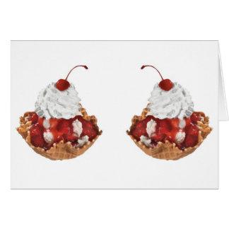 Frische Frucht-Kirschnachtisch-Kuchen-leere Karte
