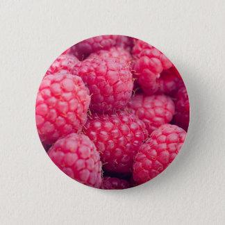 Frische Himbeeren Runder Button 5,7 Cm