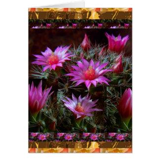 Frische KAKTUS Kaktus-Blume: Wilde exotische Karte