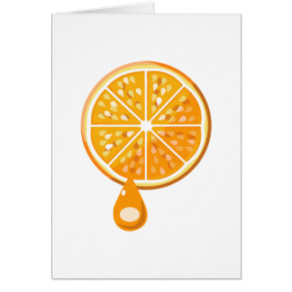 Frische orange Mitteilungskarten Karte