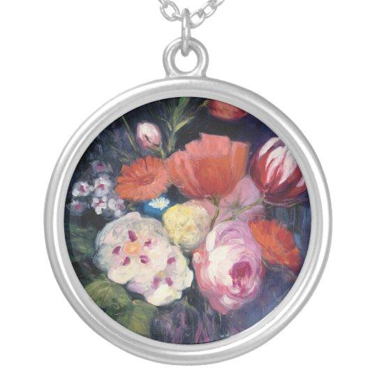 Frische Schnitt-Frühlings-Blume Halskette Mit Rundem Anhänger