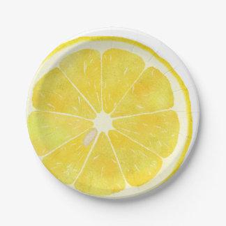 Frische Zitrone Pappteller 17,8 Cm