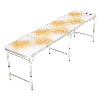 Frischer orange Spray Beer Pong Tisch