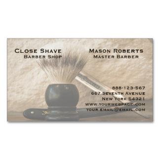 Friseur-gerades Rand-Rasiermesser-Rasierbürste Magnetische Visitenkarten
