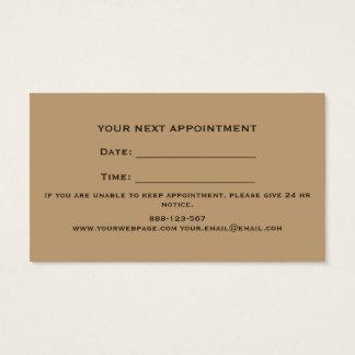 Friseur-gerades Rand-Rasiermesser-Rasierbürste Visitenkarte