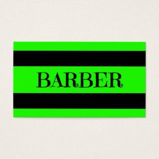 Friseur-grüne NeonVisitenkarte Visitenkarte