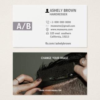 Friseur-Visitenkarten, Hairstylist, Make-up Visitenkarte