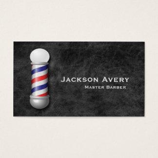 Friseursalon-Friseur-Pole-Leder Visitenkarte