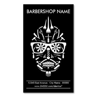 Friseursalon-Punk calavera Visitenkartenmagnet
