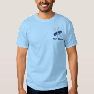 Friseursalon und Friseur Besticktes T-Shirt