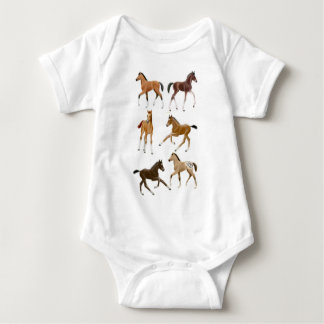Frisky Pferd fohlt Baby-Einteiler Baby Strampler