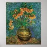 Fritillaires dans un vase de cuivre par Vincent va