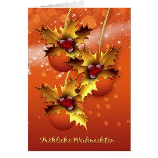 Froehliche Weihnachten stilvolles deutsches Karte