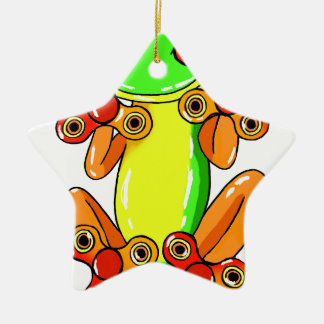 Frog spinner keramik ornament