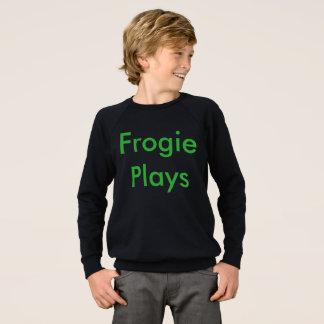 Frogie spielt Sweatshirt