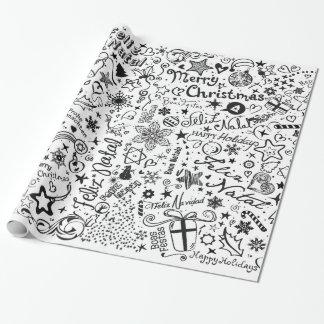 Frohe Einpackpapier