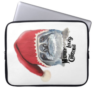 Frohe faule Weihnachten Laptop Sleeve