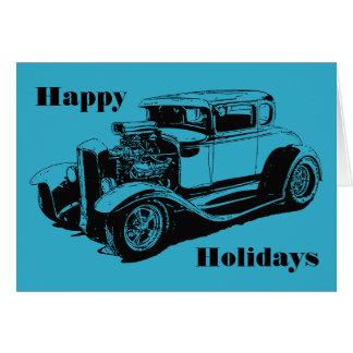 Frohe Feiertage 1931 5 Fenster-Coupé Karte