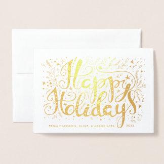 Frohe Feiertage Äste und Sterne Unternehmens Folienkarte