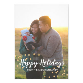 Frohe Feiertage Familien-Weihnachtsgruß-Karte Karte