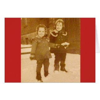 "Frohe Feiertage! Feiertags-Gruß-Karte 7"" x 5"" Karte"