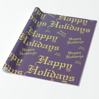 frohe Feiertage Geschenkpapier