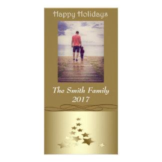 """""""Frohe Feiertage"""" Goldweihnachtsbaum auf Gold Karte"""