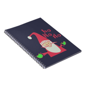 Frohe Feiertage Ho Ho Ho frohe Weihnacht-Notizbuch Spiral Notizblock