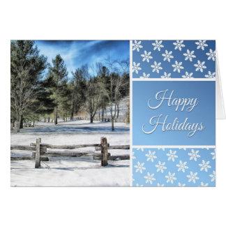 Frohe Feiertage Karte mit schöner Winter-Szene