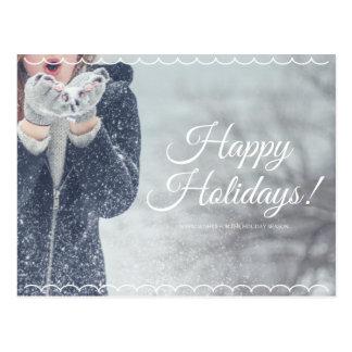 Frohe Feiertage Postkarte