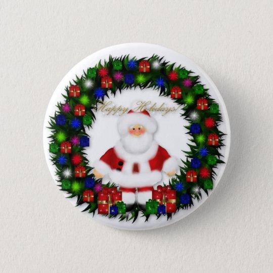 Frohe Feiertage Runder Button 5,7 Cm