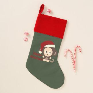 Frohe Feiertage Sankt-Affe Weihnachtsstrumpf