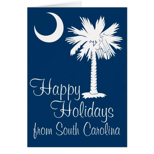 Frohe Feiertage Sc von der blauen Grußkarte