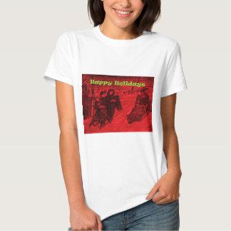 Frohe Feiertage Schlitten-Rennen T-shirts