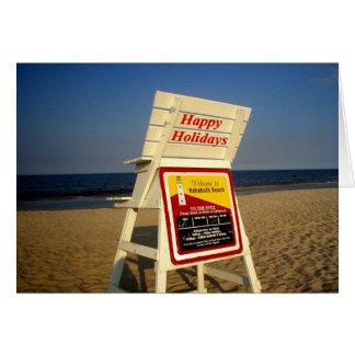 Frohe Feiertage vom Strand Karte
