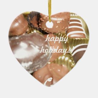 Frohe Feiertage Weihnachtssüßigkeit Keramik Ornament
