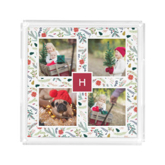 Frohe Feiertags-Foto-Collage des Laub-| Acryl Tablett