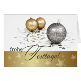 Frohe Festtage. Deutsche Weihnachtskarten Karte