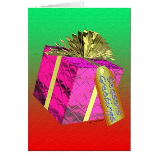 Frohe Festtage - Geschenk Karte