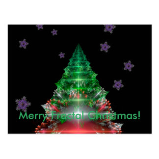 Frohe Fraktal-Weihnachten! Postkarte