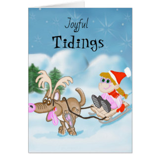 Frohe Neuigkeitens-Weihnachtskarte Karte