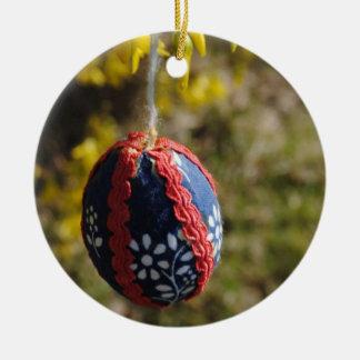 Frohe Ostern Rundes Keramik Ornament
